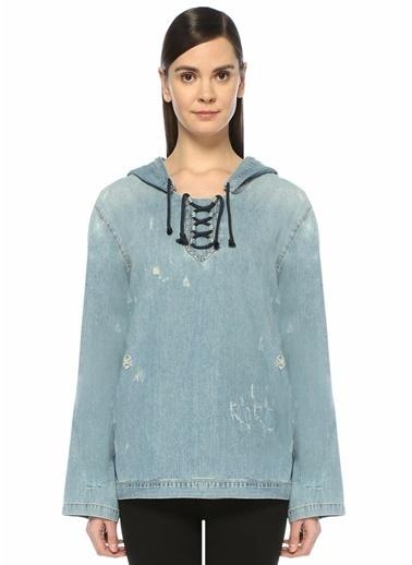 Saint Laurent Gömlek Mavi